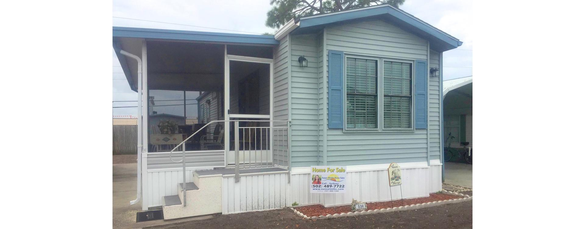 Mobile Home For Sale - Largo, FL Rainbow Village #534 on